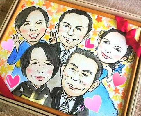 結婚式両親と兄弟への贈呈品(作家 桐生)