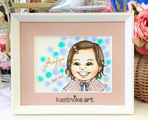 子どもの1歳の誕生日に似顔絵