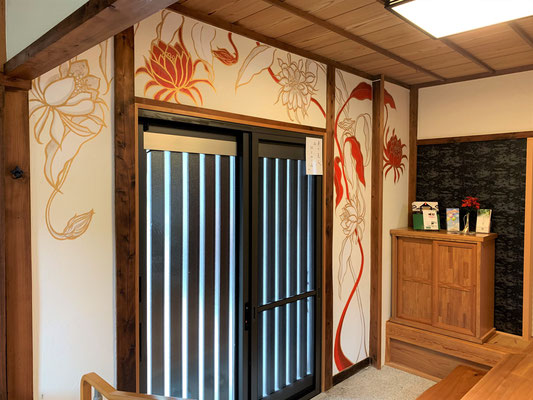 壁画制作ー宣隆寺さまー