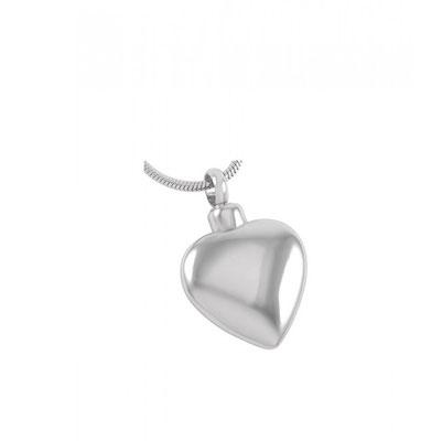"""Asche-Anhänger aus Edelstahl mit einem Schraubverschluss """"Herz"""" 2.5cm x 2.0cm x 0.6cm / Fr. 90.-"""