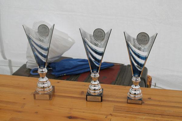"""unsere Pokale """"Fahrzeugbewertung 16.Ahlumer Zeltplatztreffen Trabant und IFA Freunde 2015"""""""