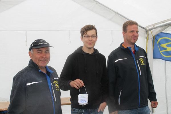Wimpel für Tim Sommer (Nienburg/Weser) für seine 300 km weite Mopedanreise