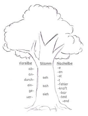 Wortstamm üben - Lernwerkstatt für Deutsch