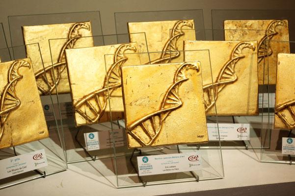 """Trophées """"L'excellence Artisanale"""" Conseil départemental de la Vendée, Chambre des métiers la Roche sur Yon, Mission des métiers d'art des Pays de la Loire"""