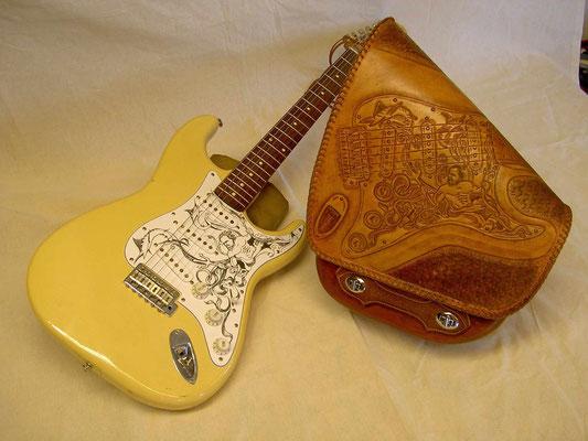 Soft Tail Schwingentasche Kunden Auftrag Fender Strat von Wilfried F. Dexheim