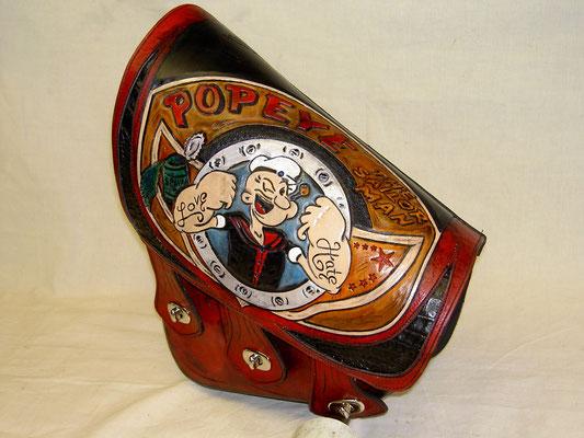 Soft Tail Schwingentasche Popeye Bag eigenes Design z.B. Fat Boy, Heritage usw.   verkauft