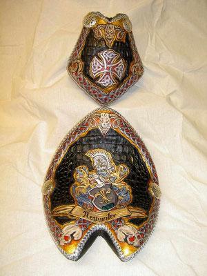 Mayhemms New Seat Owner Urs N. Zürich/CH Familien Wappen,Celtic Design,Skulls und Kaiman Intarsien