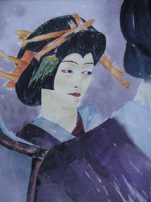 Kabuki(vor dem Spiegel))