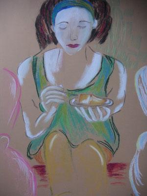 Kaffeeklatsch 1 (Pastell)