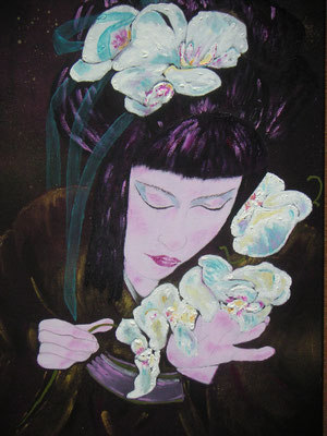 Geisha Orchideen Acryl