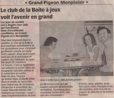 journal Courrier de l'Ouest sept.2007