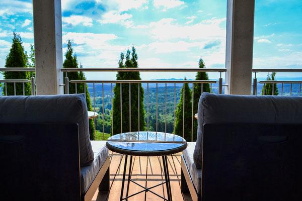 Terrasse Wohnbereich / terrace living area