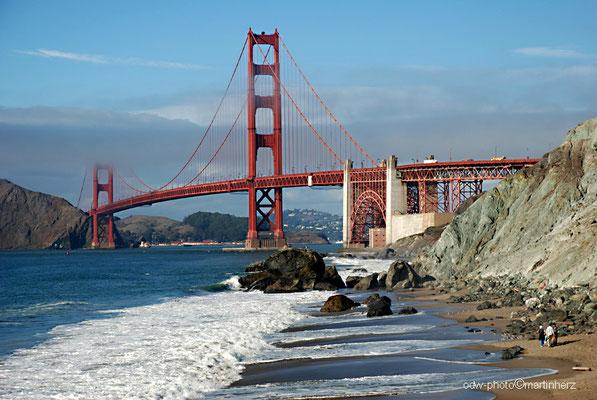 USA, Kalifornien, San Francisco, Golden Gate mit Golden Gate Bridge