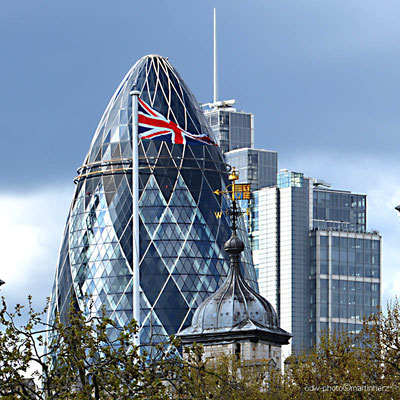 England, London, The Gherkin (Die Gurke)