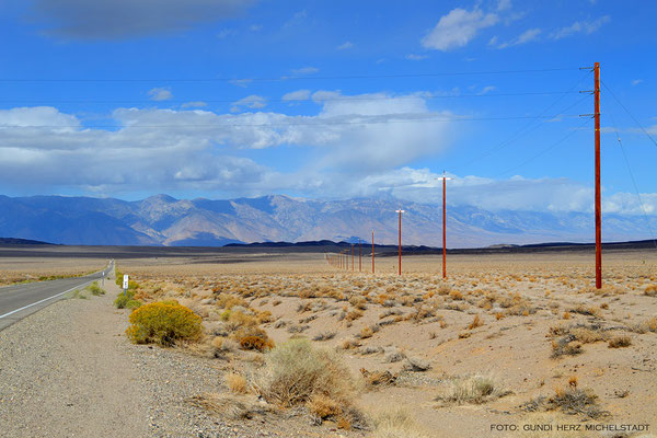 USA, Kalifornien, auf der CA190 zwischen Stovepipe Wells  und Panamint Springs