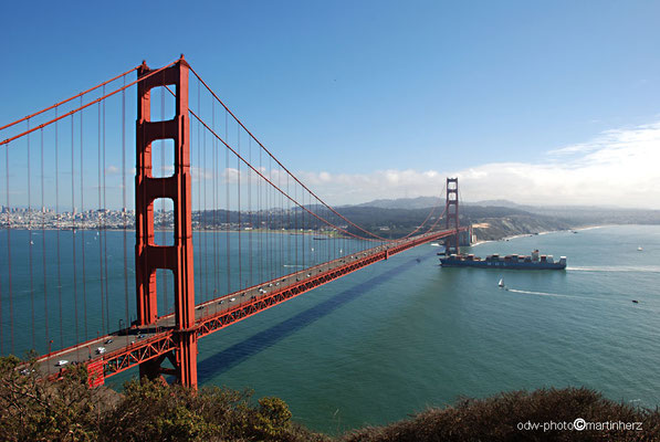USA, Kalifornien, San Francisco, Golden Gate mit Golden Gate Bridge