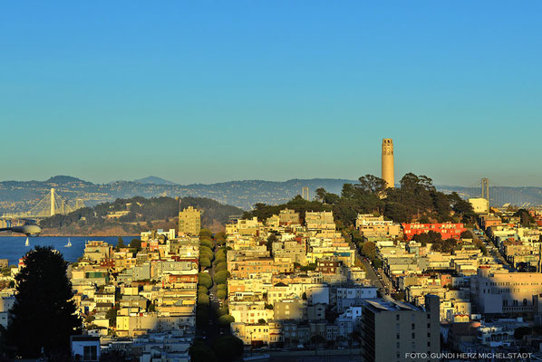 USA, Kalifornien, San Francisco, Telegraph Hill  mit Coit Tower