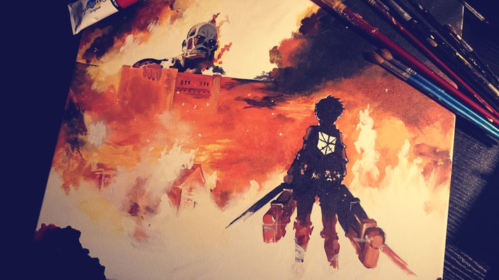 Attack On Titan (Copy Painting)