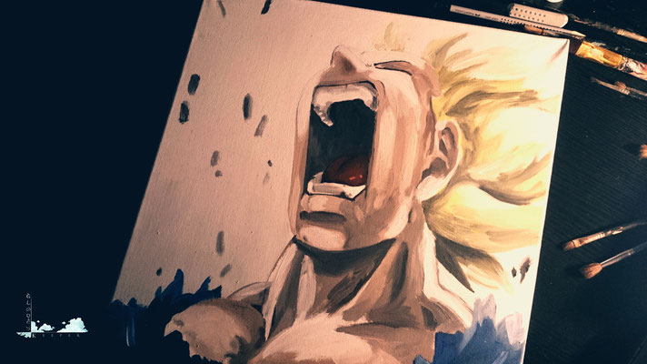Dragon Ball- Vegeta  (Copy Painting)