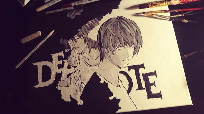 Death Note - L & Light (Copy Painting)