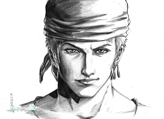One Piece- Lorenor Zorro (Realistic Fan Art)