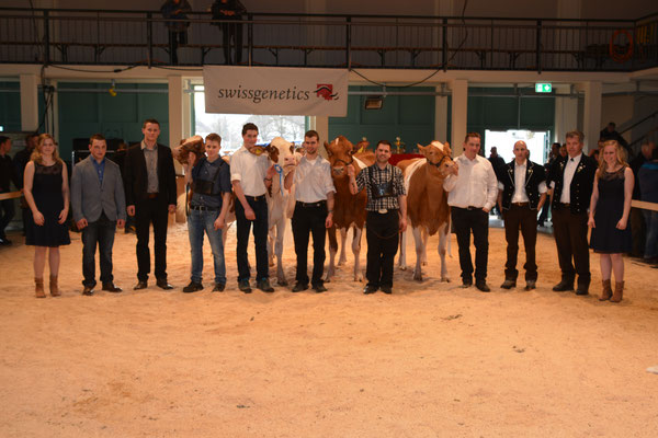 Gruppenbild der Sieger ohne Starzüchter