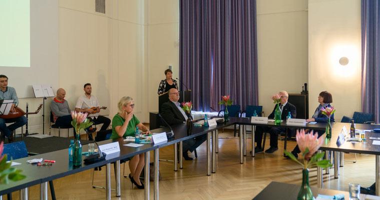 Ehrenamt Museumswesen 2020 Sachsen 28.9.2020. Grußwort Katja Margarethe Mieth, Direktorin der Sächsischen Landesstelle für Museumswesen. 2. ©Michael Schmidt