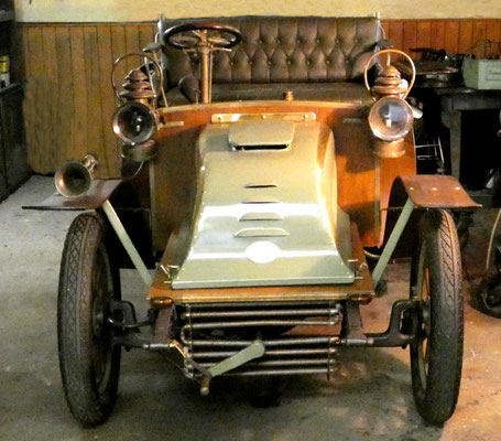 Opel Darracq 1903, Frontansicht. Privatbesitz. Foto: Schönfuß