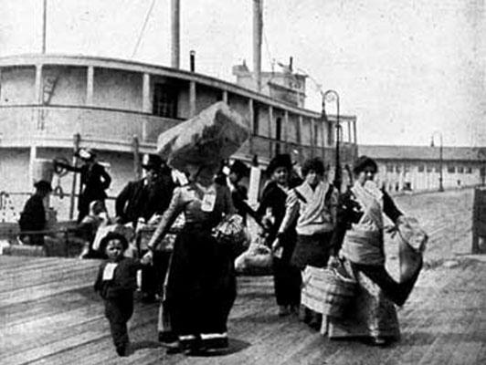 Ankunft von Auswanderern