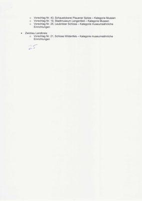 Museumspreis Sachsen 2020: Themenliste S. 2 für die 25 Auszeichnungen,