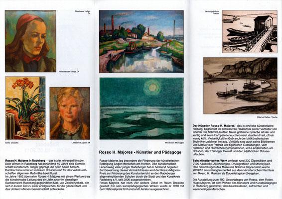 Rosso H. Majores - Ausstellung im Schloss Klippenstein Radeberg 2011; Flyer RS