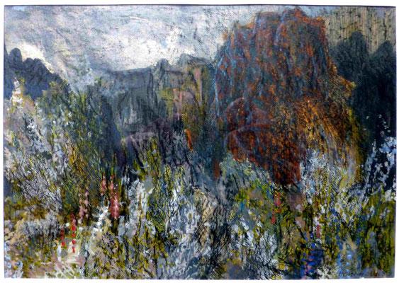 Herbert Hommola: Blumen im Felsgebirge