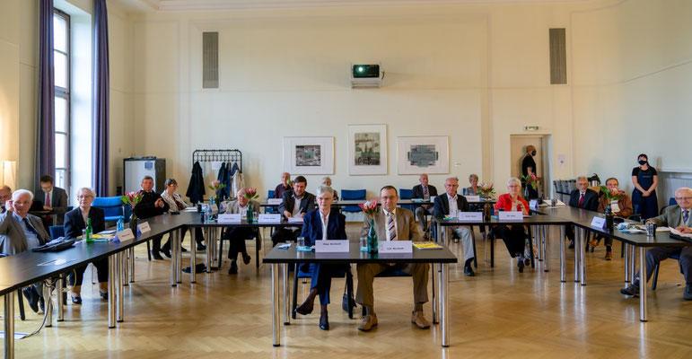 Ehrenamt Museumswesen 2020 Sachsen 28.9.2020. Einige der Preisträger mit ihren Partnern.  ©Michael Schmidt