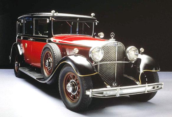 """Mercedes-Benz 770 """"Großer Mercedes"""" für den japanischen Kaiser Hirohito.  Dieser hatte etwa 6 dieser gepanzerten Fahrzeuge bestellt. Bild: www.Handelsblatt.com Spotpress"""
