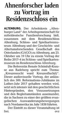 Osterländer Volkszeitung 19. Oktober 2017