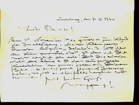 Wolfgang Fischer: Persönliche Einladung zum Kunstgespräch in den Klub der Intelligenz Dresden 1966