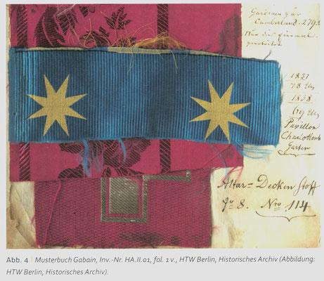 Musterbuch Gabain, Inv.-Nr. HA.II.01, fol. 1v., HTW Berlin. Lizenz cc-by-sa-4.0. Abb.-Quelle (1)