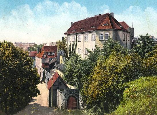 """Das """"Märchenschloss"""", alte Ansichtskarte, etwa 1925"""