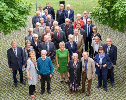 Ehrenamt Museumswesen 2020 Sachsen 28.9.2020. Gruppenfoto der sächsischen Preisträger mit Partnern. ©Michael Schmidt