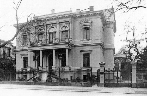 Villa Wiener Straße 36 Dresden, um 1940, Vorderansicht