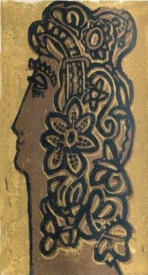 Wolfgang Fischer: Titelgrafik der persönlichen Einladung zum Kunstgespräch in den Klub der Intelligenz Dresden 1966