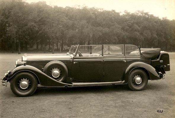 Horch 850 Phaeton mit Gläser-Karosserie. Bild: Auto Union Werksfotos Meiche.
