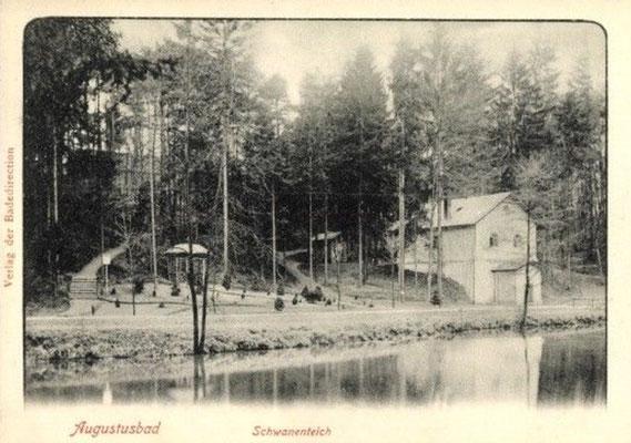 Augustusbad, Eremitage mit Schwanenteich im Tannengrund 2