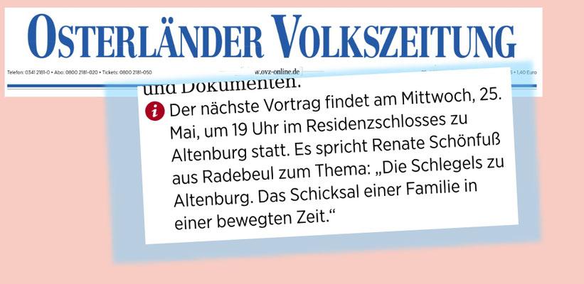 Osterländer Volkszeitung vom 21.Mai 2016