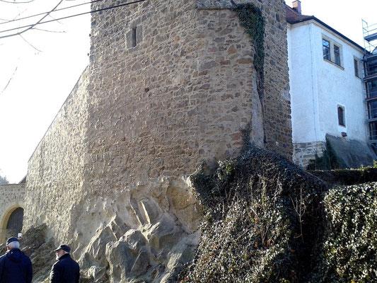 Der Eulenturm auf dem Felssporn aus Granodiorit