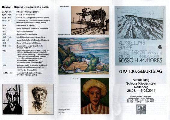 Rosso H. Majores - Ausstellung im Schloss Klippenstein Radeberg 2011; Flyer VS