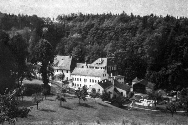 Niedermühle, Papierfabrik Seifersdorf, Ansichtskarte um 1930