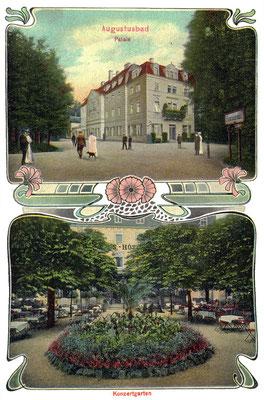 Augustusbad, Palais-Hotel mit Konzertgarten