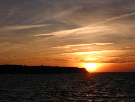 Boltenhagen, Sonnenuntergang. Foto: ©Klaus Schönfuß