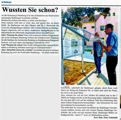 """""""die Radeberger"""" v. 30.8.2019"""